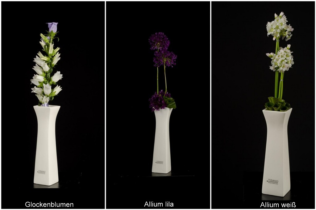 Dekoideen TIZIANO Vase Ferrara mit Frühlingsblumen