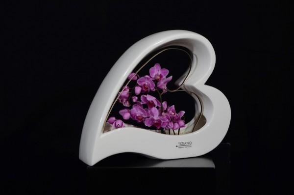 TIZIANO Schale Avellino lila flieder Hochzeitsdekoration