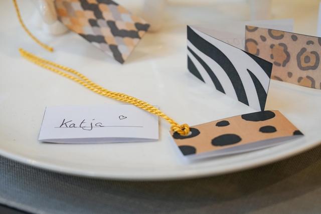 Tischkärtchen Afrika-Deko