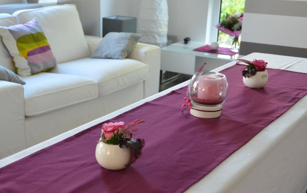 heidekraut tischdeko f r den herbst tiziano. Black Bedroom Furniture Sets. Home Design Ideas