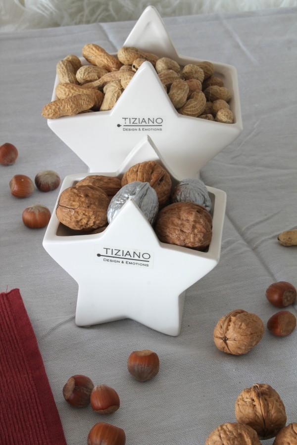 TIZIANO Adventskalender Törchen 22 Tischdeko mit Nüssen und Cometa