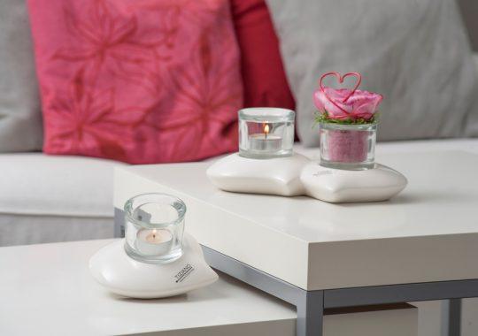 Geschenke mit Herz-Teelicht Sassari