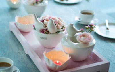 Dekotipp: Frühlingshafte Tischdeko für die Kaffeetafel