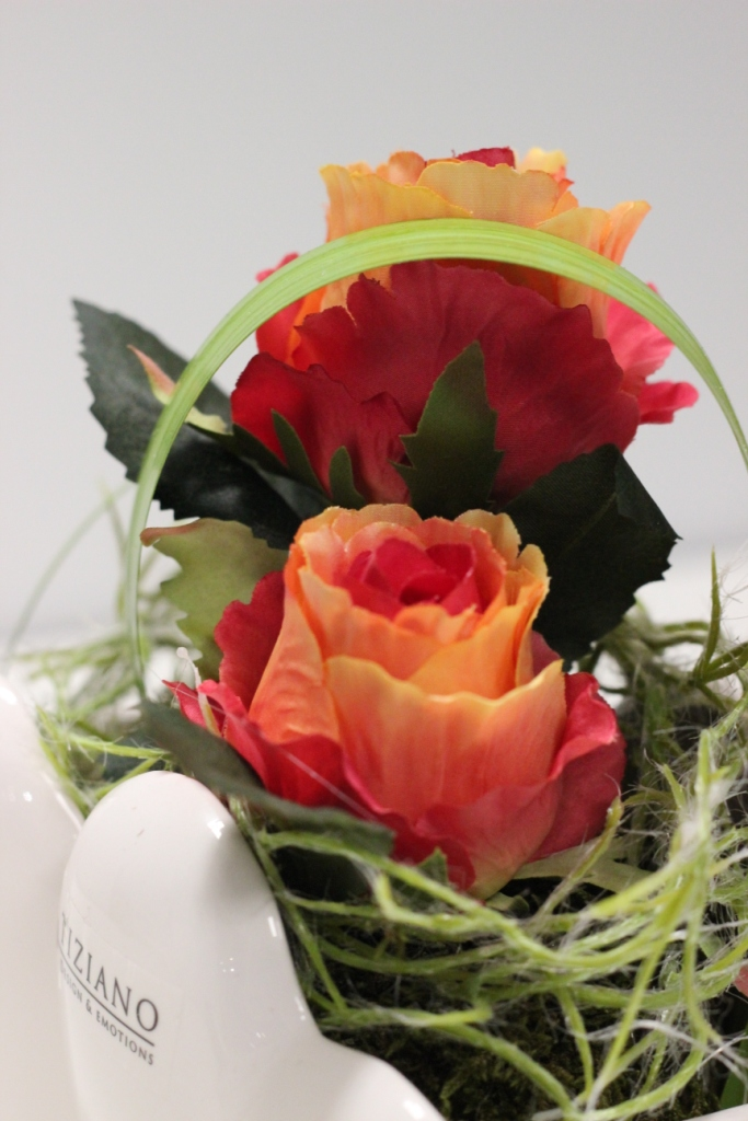 Rosen in Jardiniere Novare