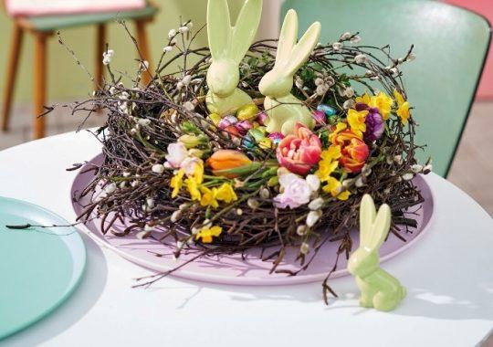 Osternest als Tischdeko