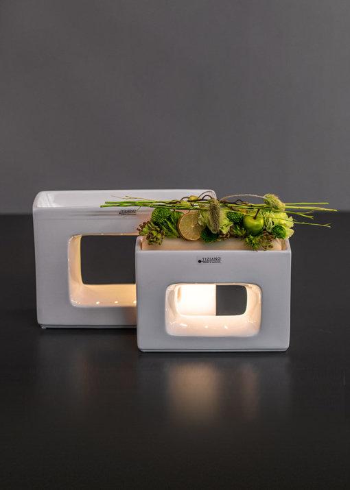 Quadro Pflanzgefäße LED quer