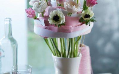 Hallo Frühling: frische Blumen unterschiedlich inszeniert