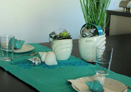 Tischdeko für den Urlaubslook zu Hause