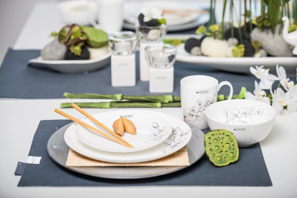 Asiatische Tischdeko_Geschirr Eleganza Orchidee