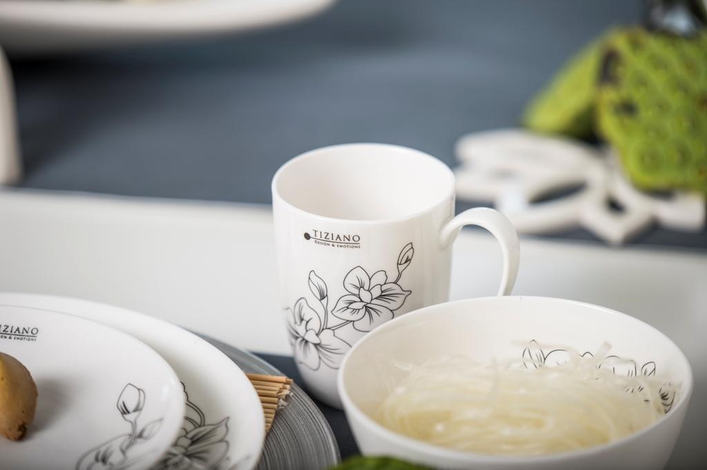 Asiatische Tischdeko_Glasnudeln in der Schale Eleganza Orchidee