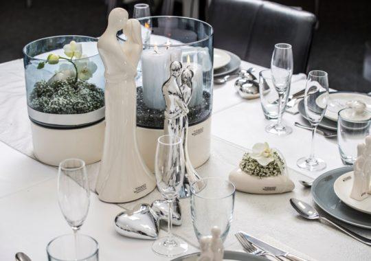 Romantische Tischdeko zur Hochzeit
