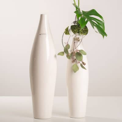 Vase Cristo schlank creme