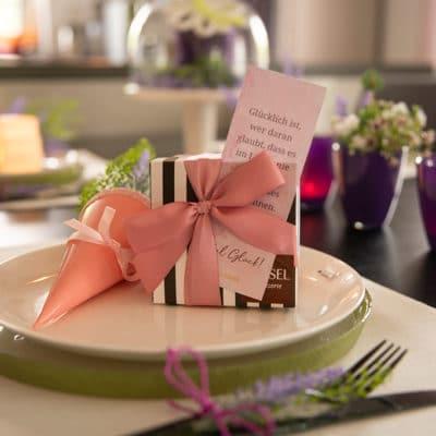 Tischdeko zum Neustart mit Lavendel