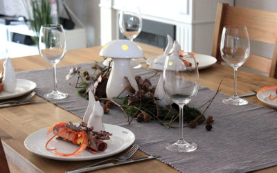 DIY Dekotipp mit Video: Herbstliche Tischdeko für Ihre Gäste