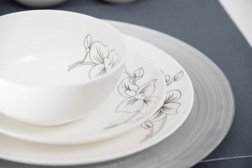 Platzteller Elegance mit Geschirr Orchidee
