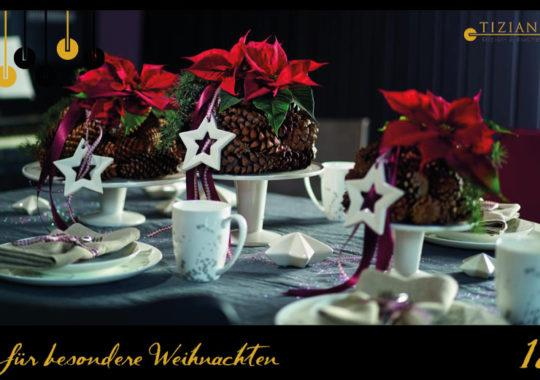 Tischdeko zu Heiligabend