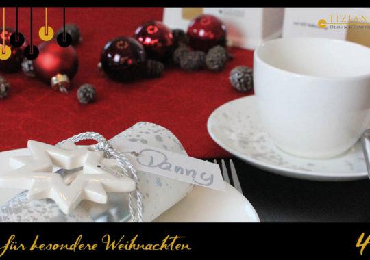Weihnachtliche Tischdeko zum Adventskaffee