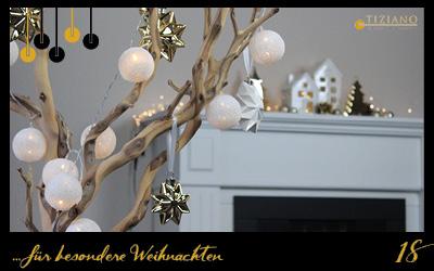 Weihnachtsdeko in Goldtoenen