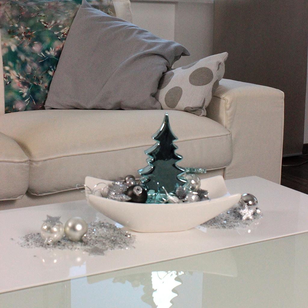 Weihnachtsdeko Mal Anders Winterwald In Turkis Tiziano