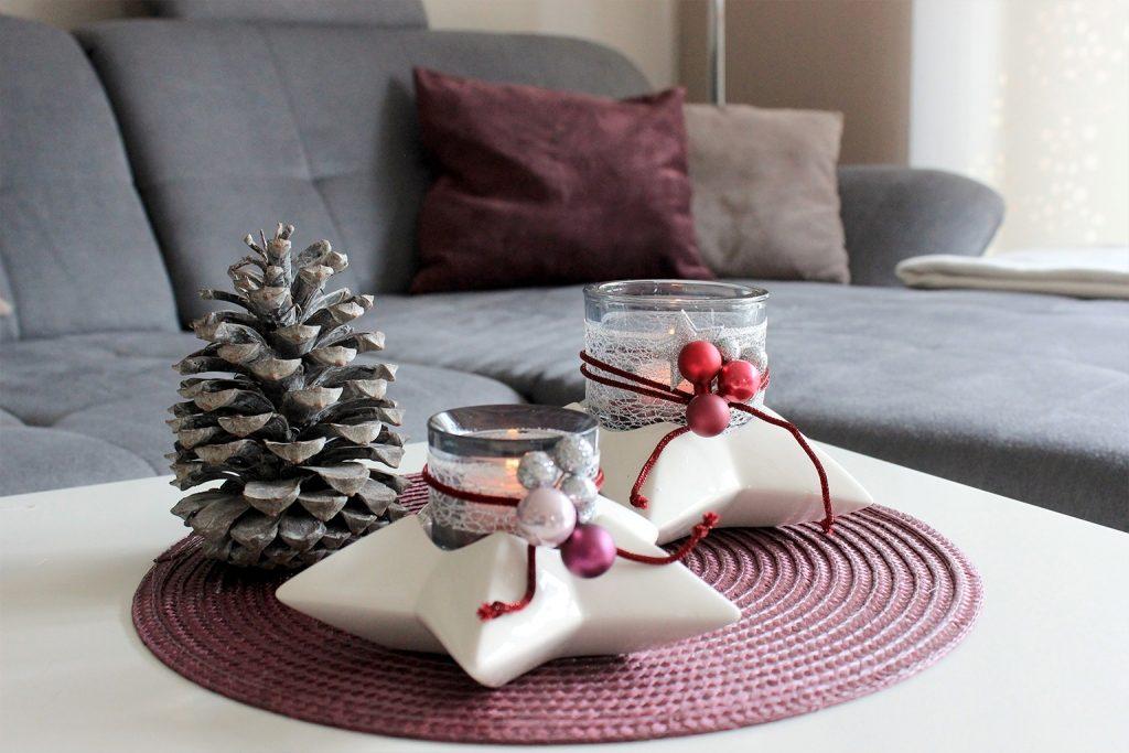 Weihnachtsdeko Lila.Farbenfrohe Last Minute Weihnachtsdeko In Pink Und Lila Tiziano
