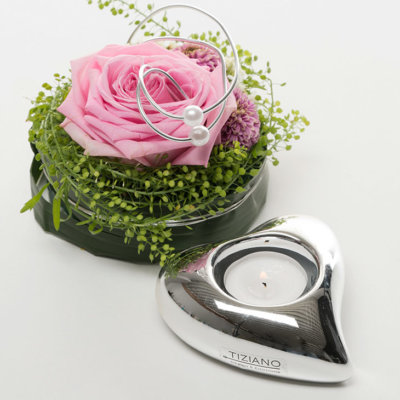 Amore Teelicht silber