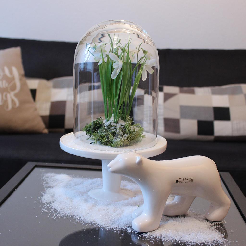 Winterdeko mit Eisbär Benno