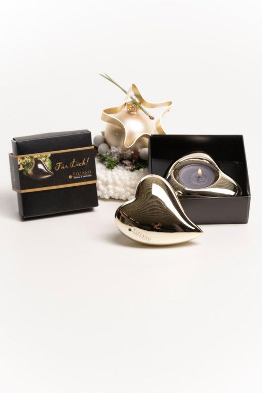 Geschenkbox Amore gold Herzen
