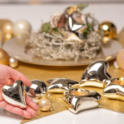 Geschenkbox Herz Amore gold