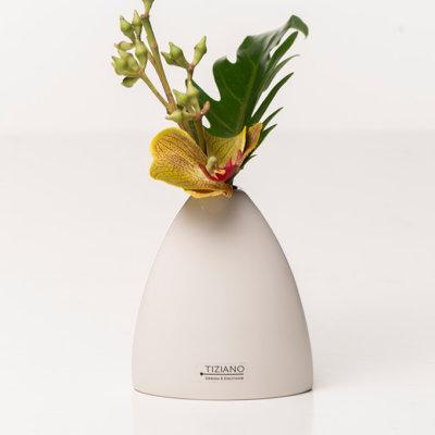 Vase Suni weiß creme hoch