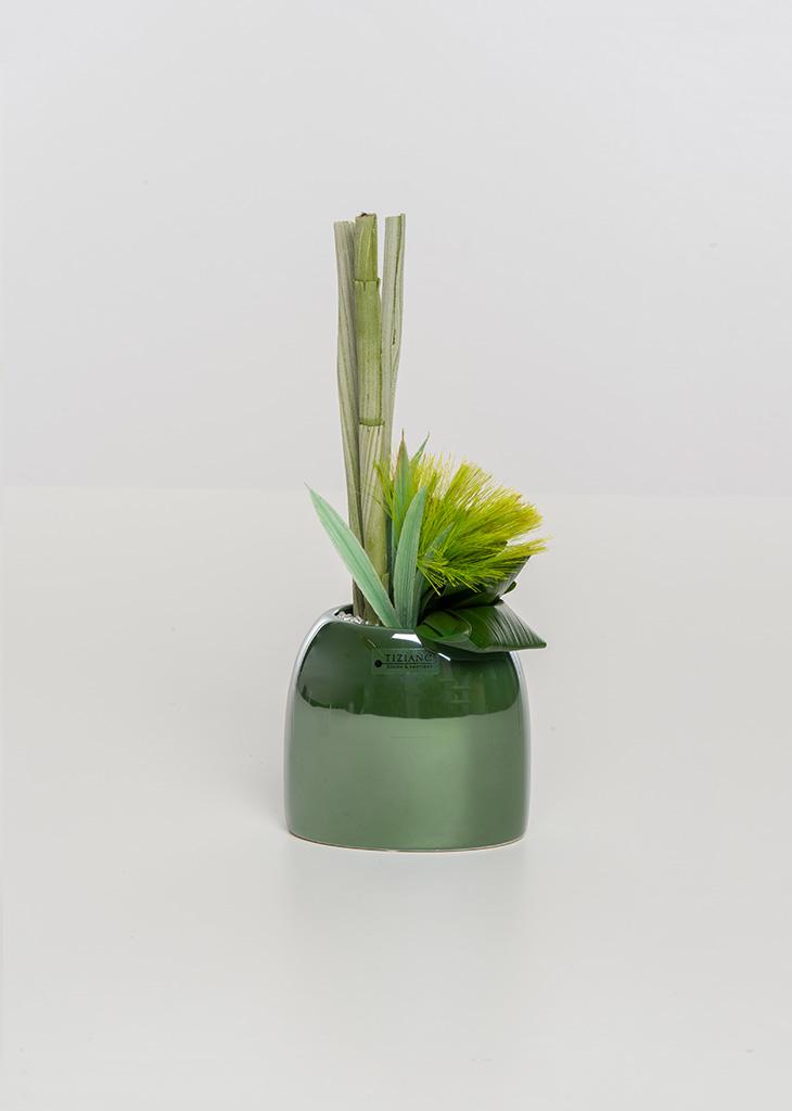 Caruso Vase hoch dunkelgrün