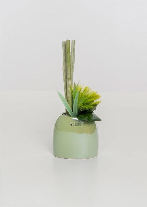 Caruso Vase hoch hellgrün
