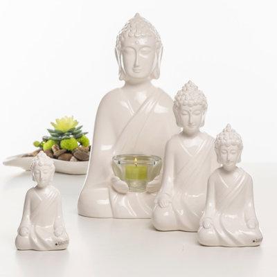 Shiva Figur creme Licht Variationen