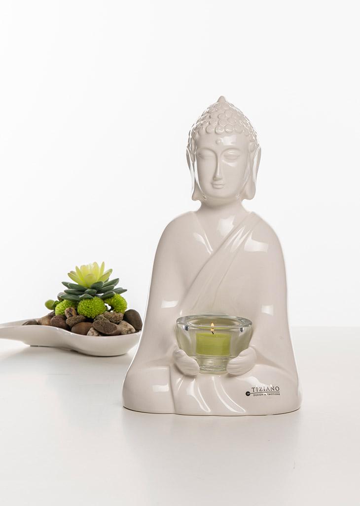 Shiva Figur Trixy Licht creme