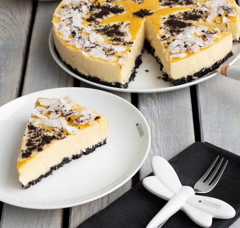 Mango-Joghurt-Torte ohne Backen zu Ostern mit Rezept