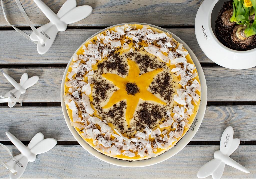 Mango-Joghurt-Torte zu Ostern mit Rezept