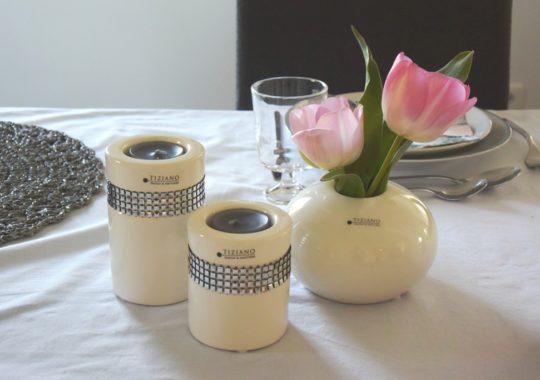 Tischdeko Ostern mit Tulpen