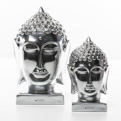Buddha Kopf silber Variationen