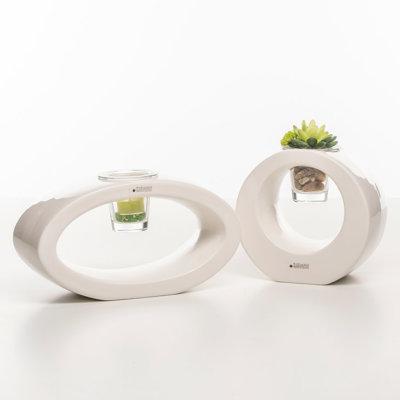 Florina rund oval Glas Silves