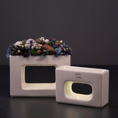 Quadro Pflanzgefäß LED quer Variationen