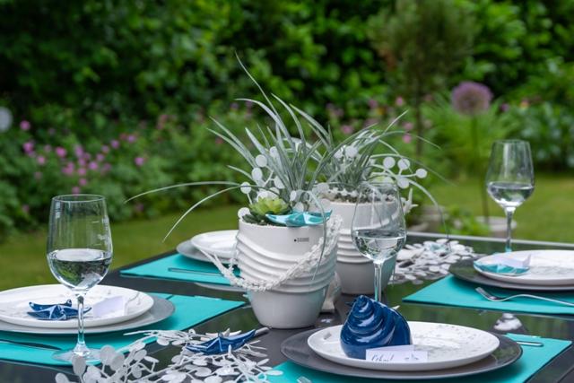 Maritime Tischdeko und Tipps für die Gartenparty