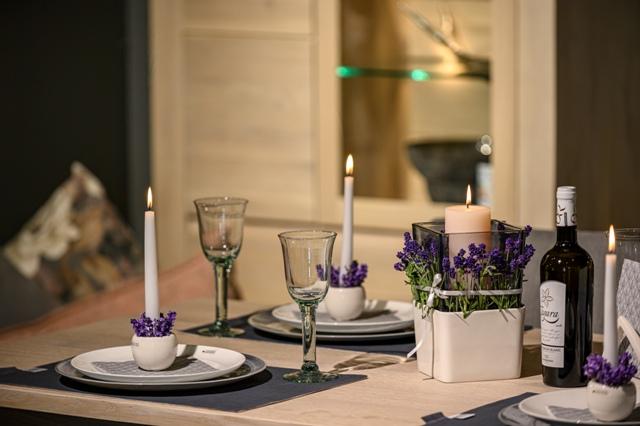 Lavendel Tischdeko: Ideen zum selber machen
