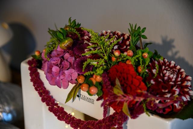 Herbstdeko mit Blumen