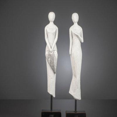 Figur Elisabeth 53,5 cm mit Herz white