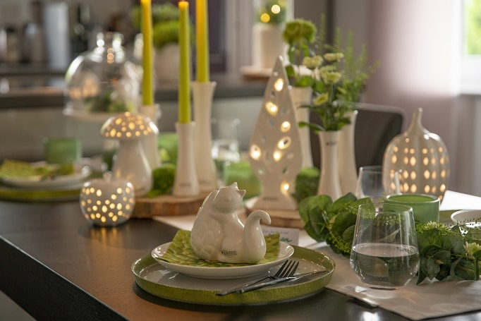 Herbstliche Tischdeko: Die schönsten Ideen in Grüntönen