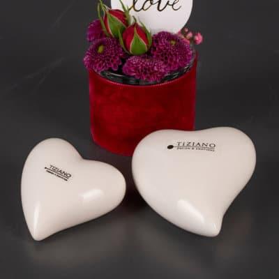 Geschenkbox Herz Amore weiß creme