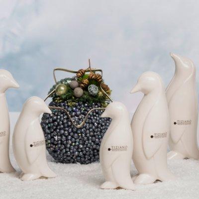 Wir begrüßen unsere Bewohner vom Südpol: Die Pinguine Tizio in drei verschiedenen Varianten.