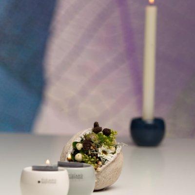 3er Set Teelicht Bowla in 3 Farben