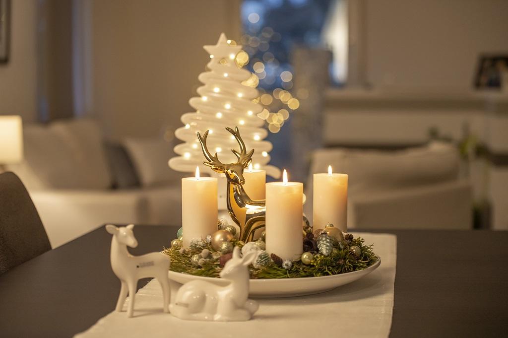 Deko Ideen zu Weihnachten Adventskranz