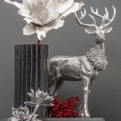 Deko Ideen zu Weihnachten mit Hirsch Austin silber