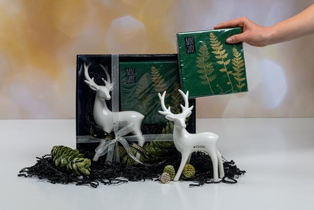 Geschenkset Deko Hirsch zu Weihnachten